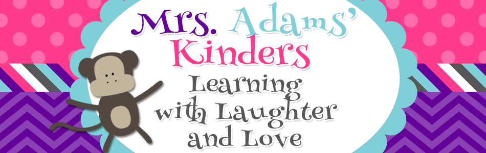 Mrs. Adams' Kinders Blog