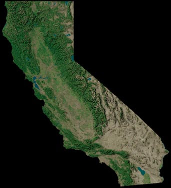 Geography Map of California  2