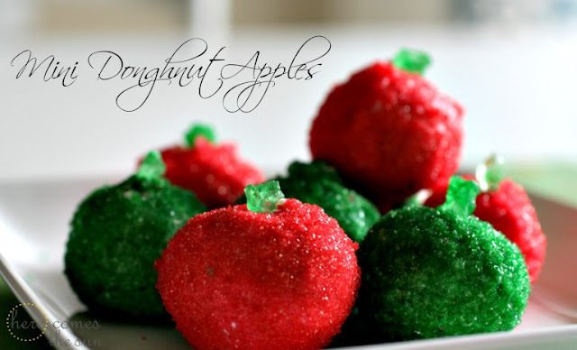 Mini Doughnut Apples