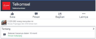 Akun Official Telkomsel | Facebook