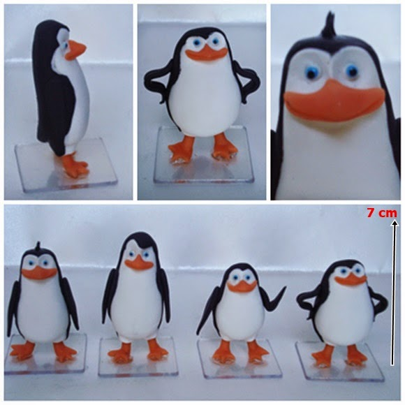 topo de bolo pinguins de madagascar