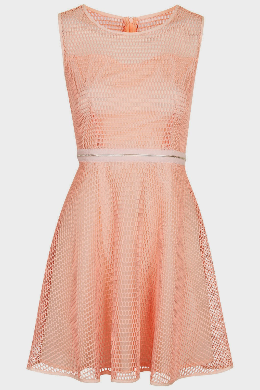 peach jovonna dress, peach skater dress,
