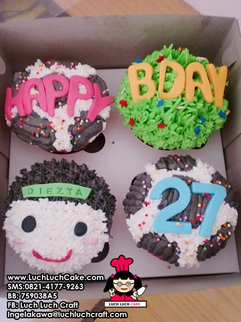 Cupcake Buttercream Bola Cute