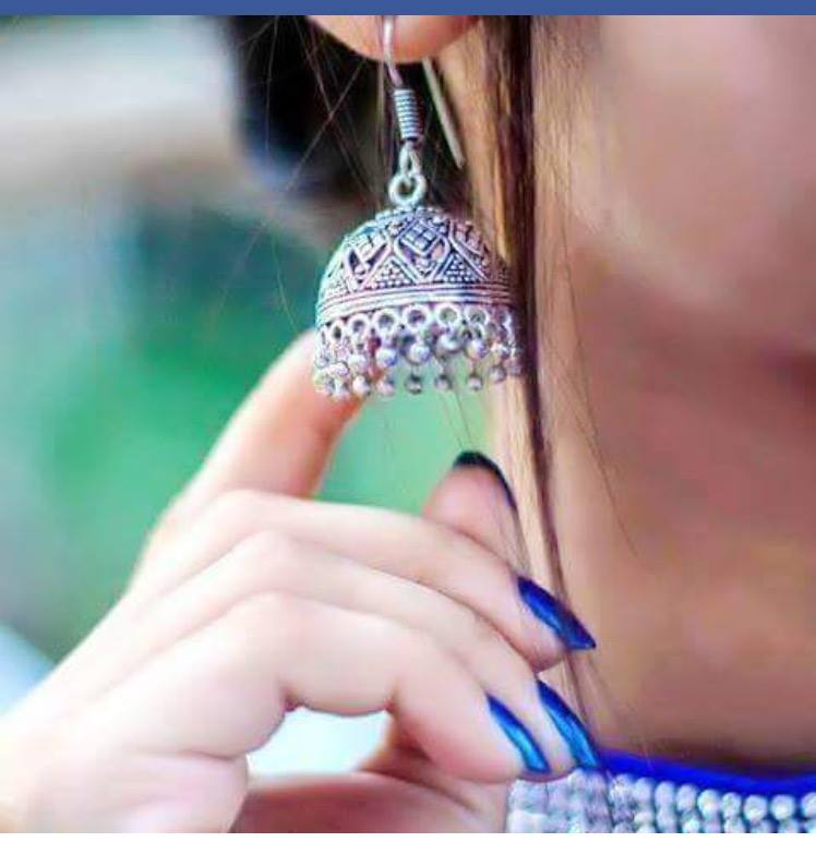 Beautiful earring hide face dp 2016