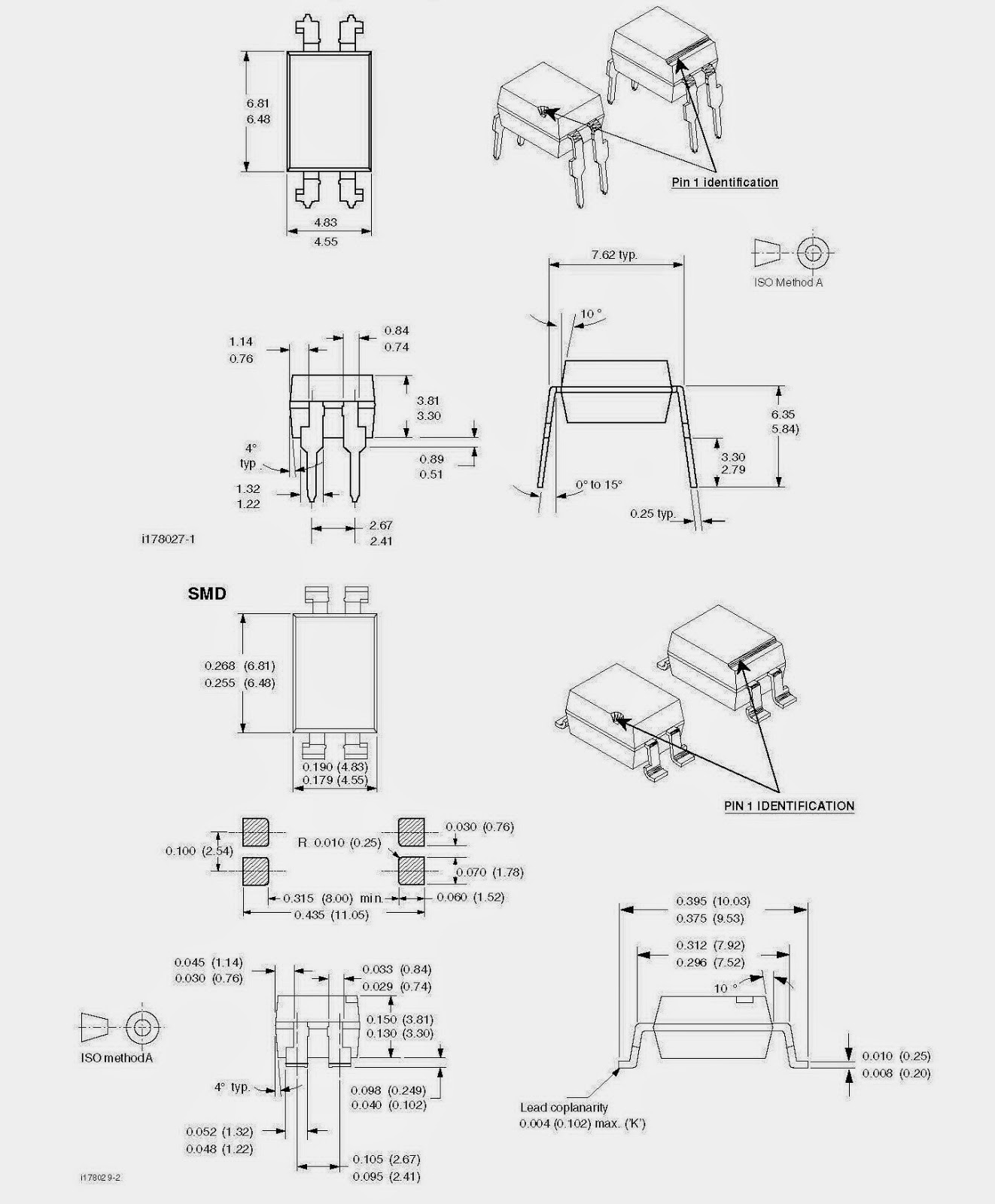 4Stück SFH617A    Transistor Output Optocouplers
