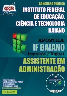 Apostila Instituto Federal Baiano - Concurso IFBAIANO 2015