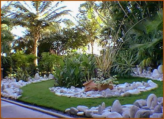 Granito de arena parterres for Paisajismo jardines fotos