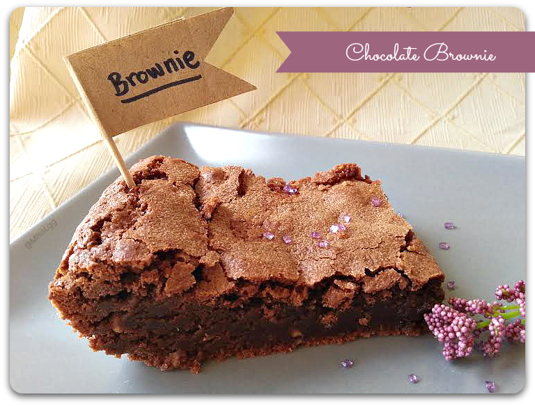 brownie de chocolate negro receta / dark chocolate brownie recipe