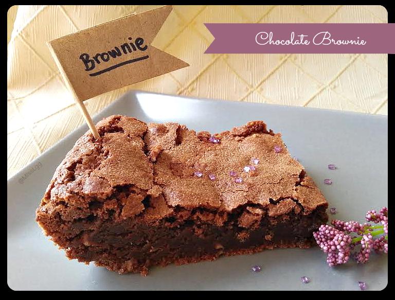 brownie de chocolate negro receta / dark chocolate brownie recipe