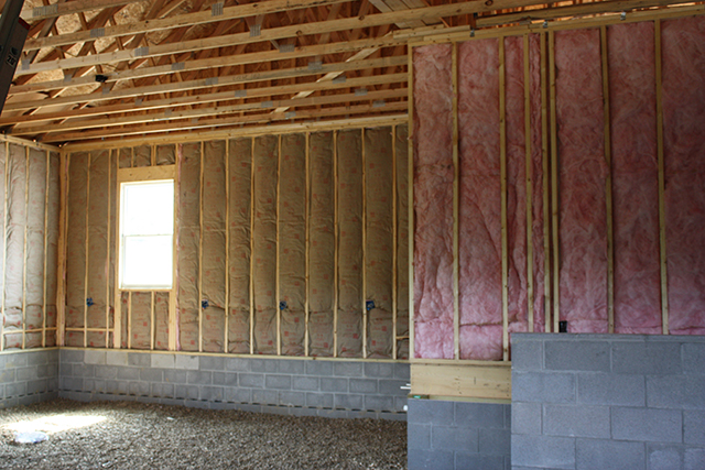 Insulating Garage Walls : Building a montgomery with wayne homes day garage