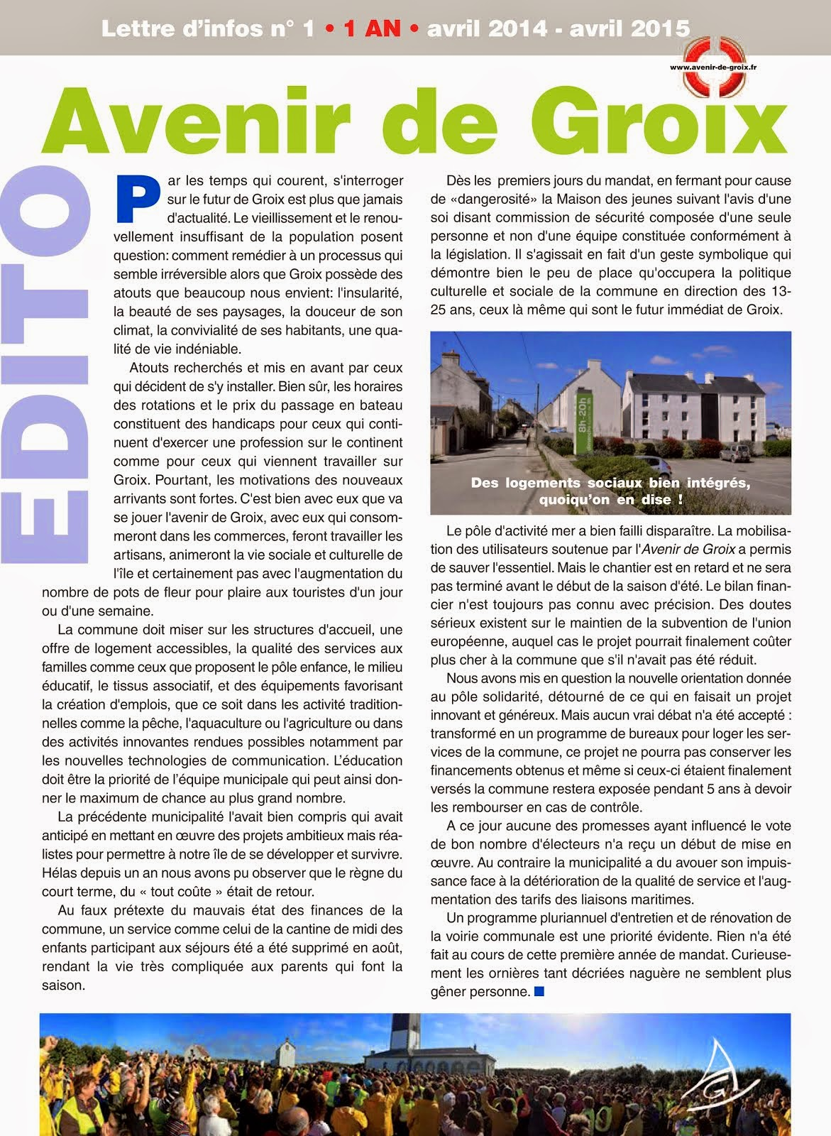 Bulletin d'information n°1