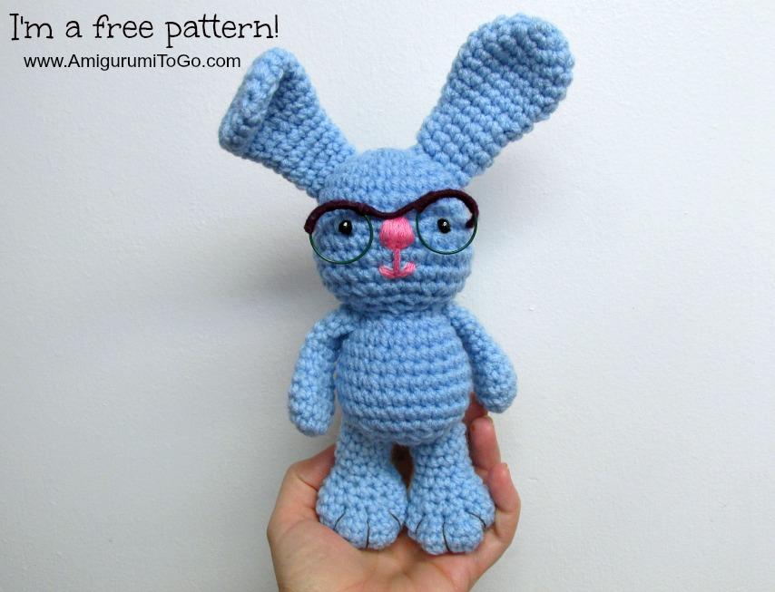 Bunny Amigurumi To Go : Bunny With Glasses ~ Amigurumi To Go