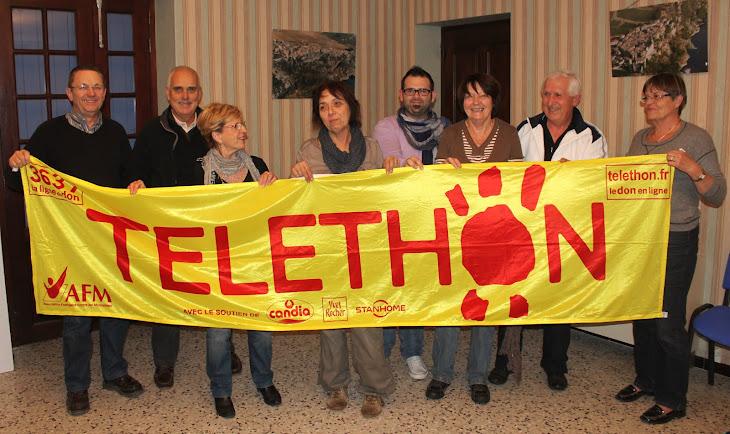 HOMMAGE AUX BENEVOLES DU MARCHE DE NOEL ET DU TELETHON 2012