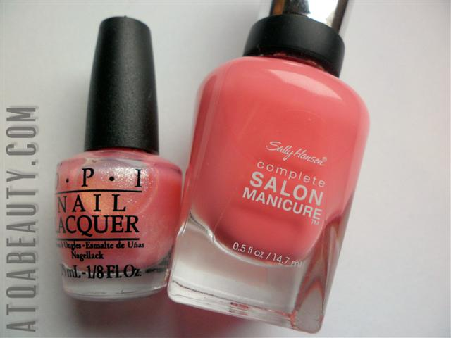 OPI, Princesses Rule! & Sally Hansen Complete Salon Manicure, 510 I Pink I Can