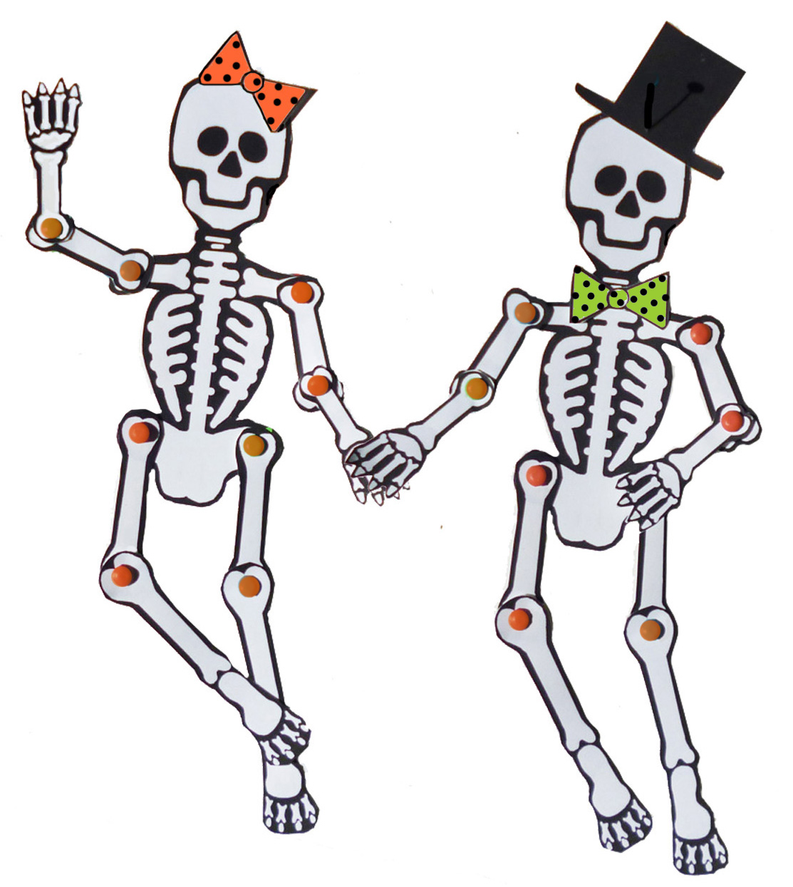 Soft image pertaining to printable skeleton template