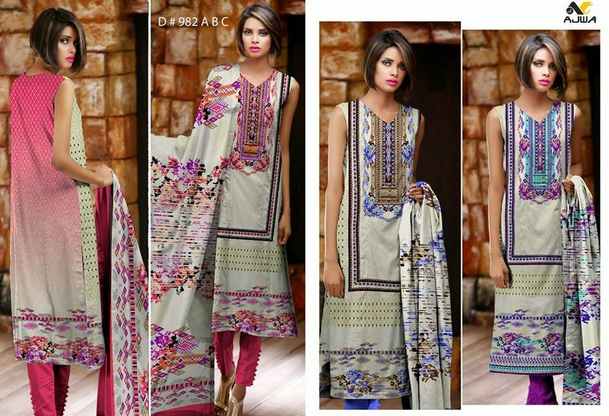 Ajwa Textile Crinkle Chiffon Collection 3014-2015