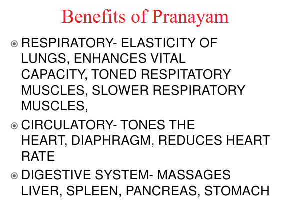 Benefits of Pranayam