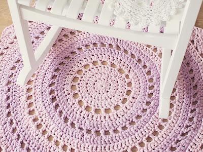free crochet pattern mandala rug