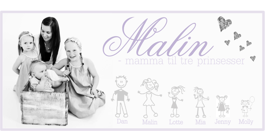 Malin - Mamma til 3 prinsesser! 