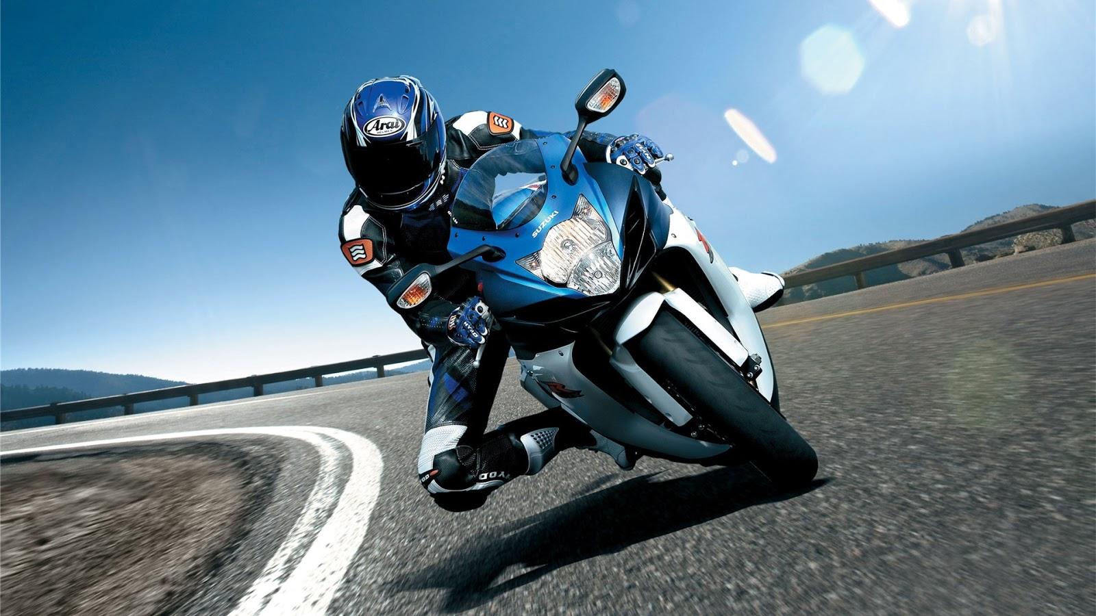 blue heavy bike