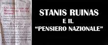 """STANIS RUINAS E IL """"PENSIERO NAZIONALE"""""""