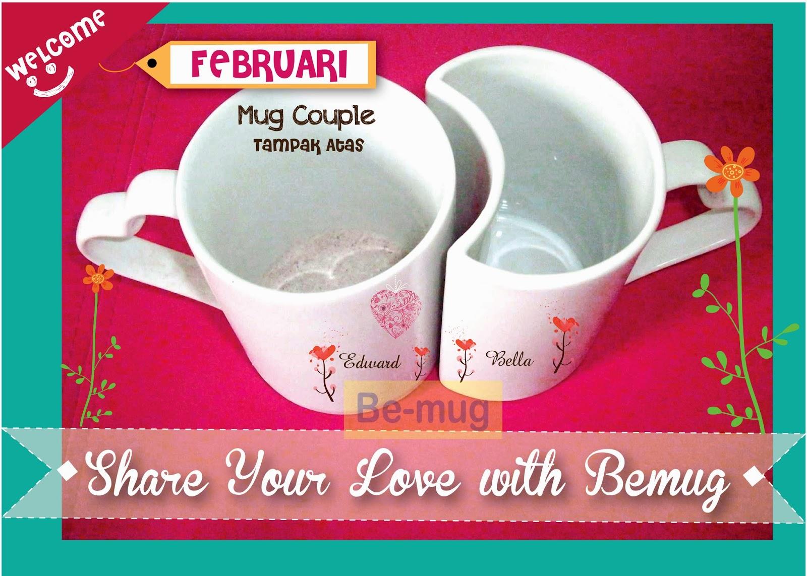Mug Couple tampak atas