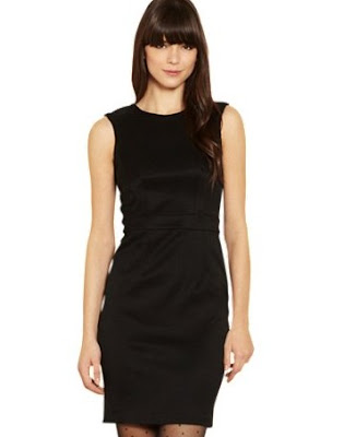 Warehouse Bow Back Detail Shift Dress, Black Was
