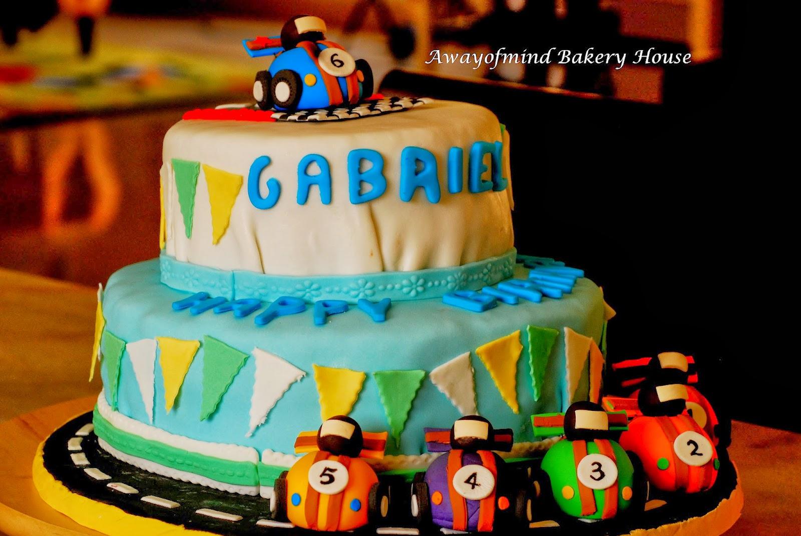 Cake With Fondant Cars : Awayofmind Bakery House: Fondant Race Cars Cake