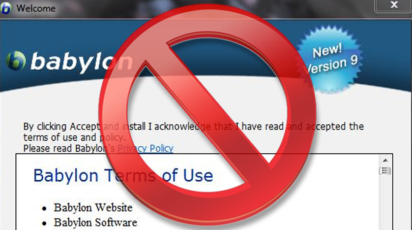 How to Remove Babylon Search Toolbar