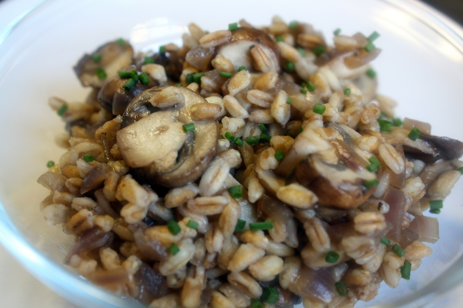 mushroom farro salad love love love farro it s a