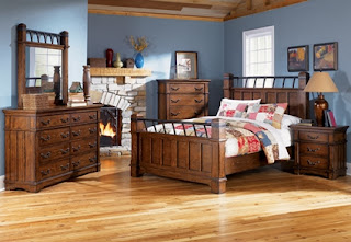 A rustic bedroom