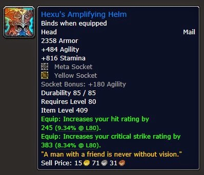 MMORPG Item Binding