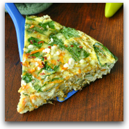 Sweet Potato and Spinach Skillet Frittata