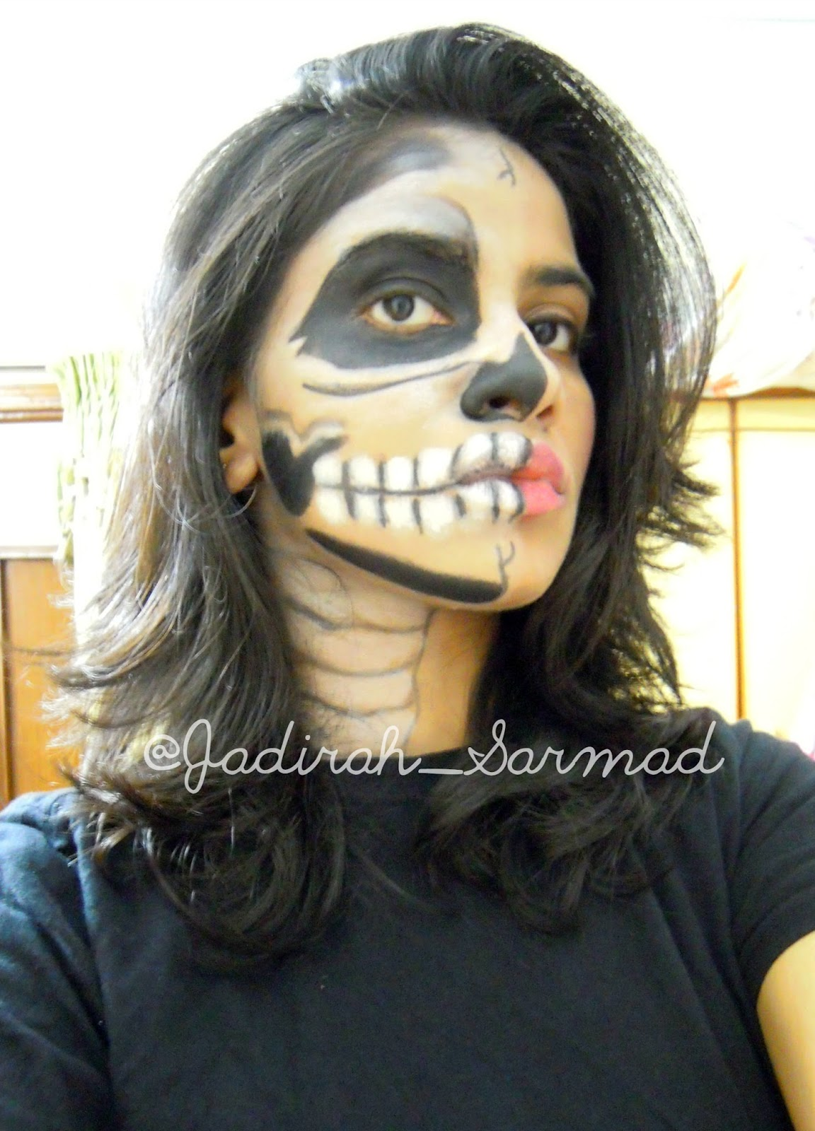 Halloween Look: Half Skeleton