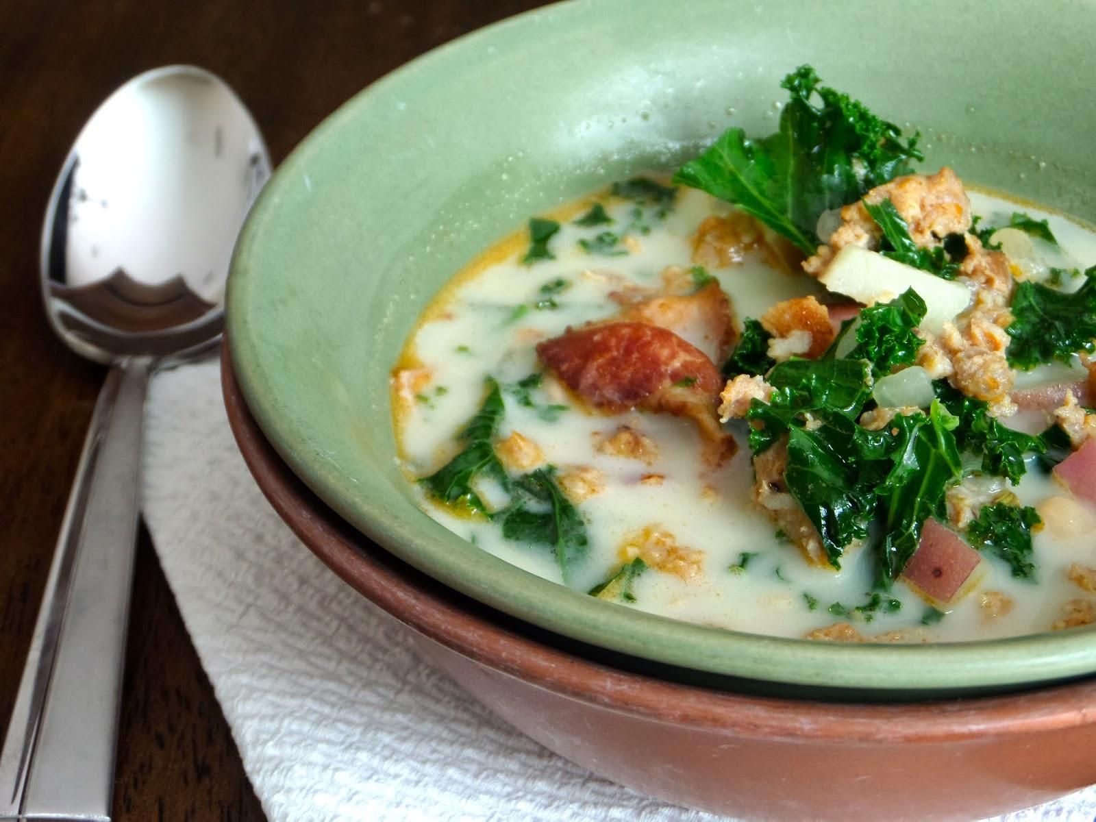 Foodie In Minnesota Kale Sausage Potato Soup Olive