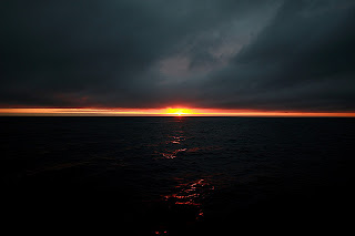 Sunset at Vicente Roca Point, Isabela Island, Galapagos