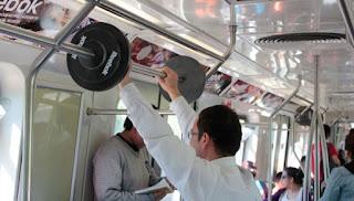 Musculação no Metrô