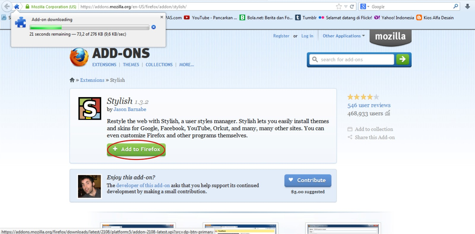 Add On Wajib Firefox