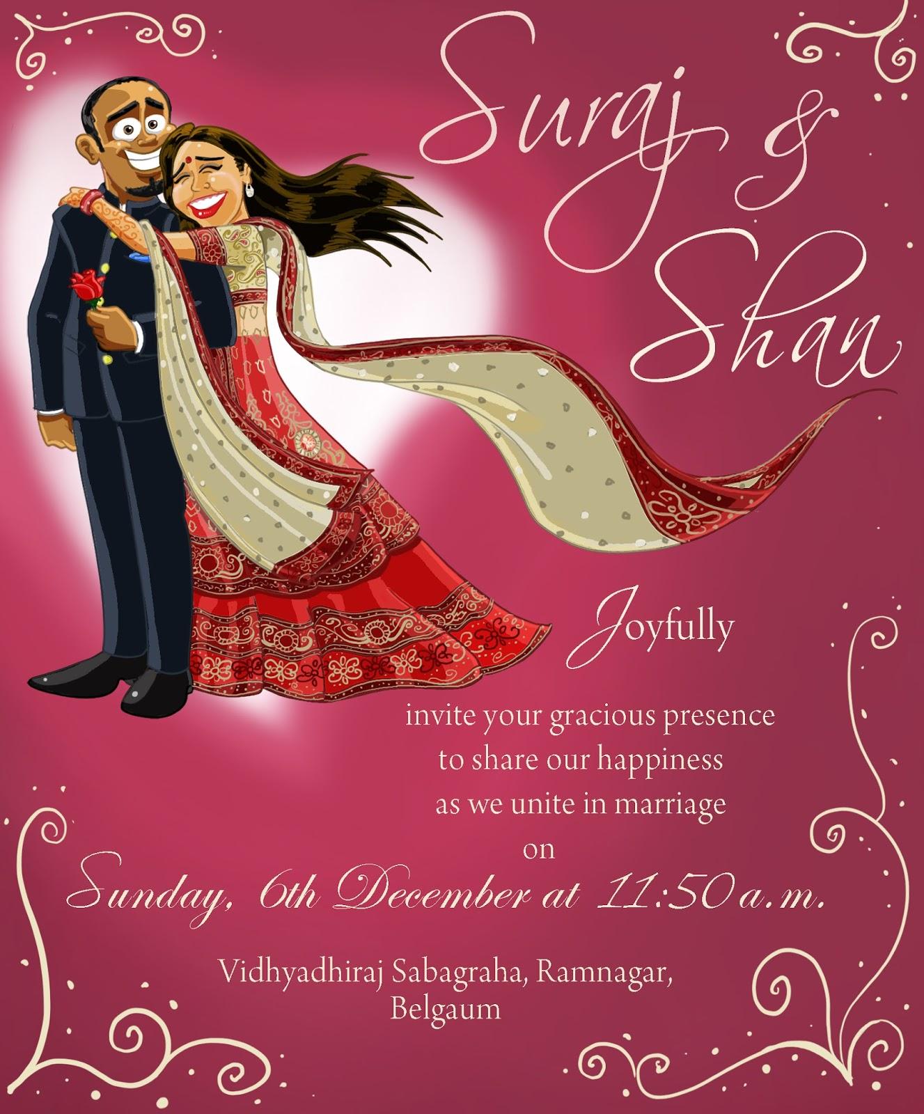 Dapoon\'s blog: Wedding card: Suraj and Shan