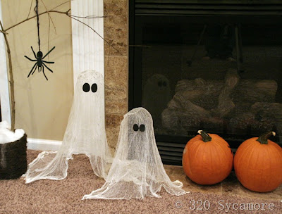 Halloween Ghosts tutorial 1