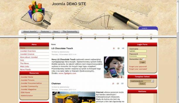 Business Grunge Brown Joomla Template