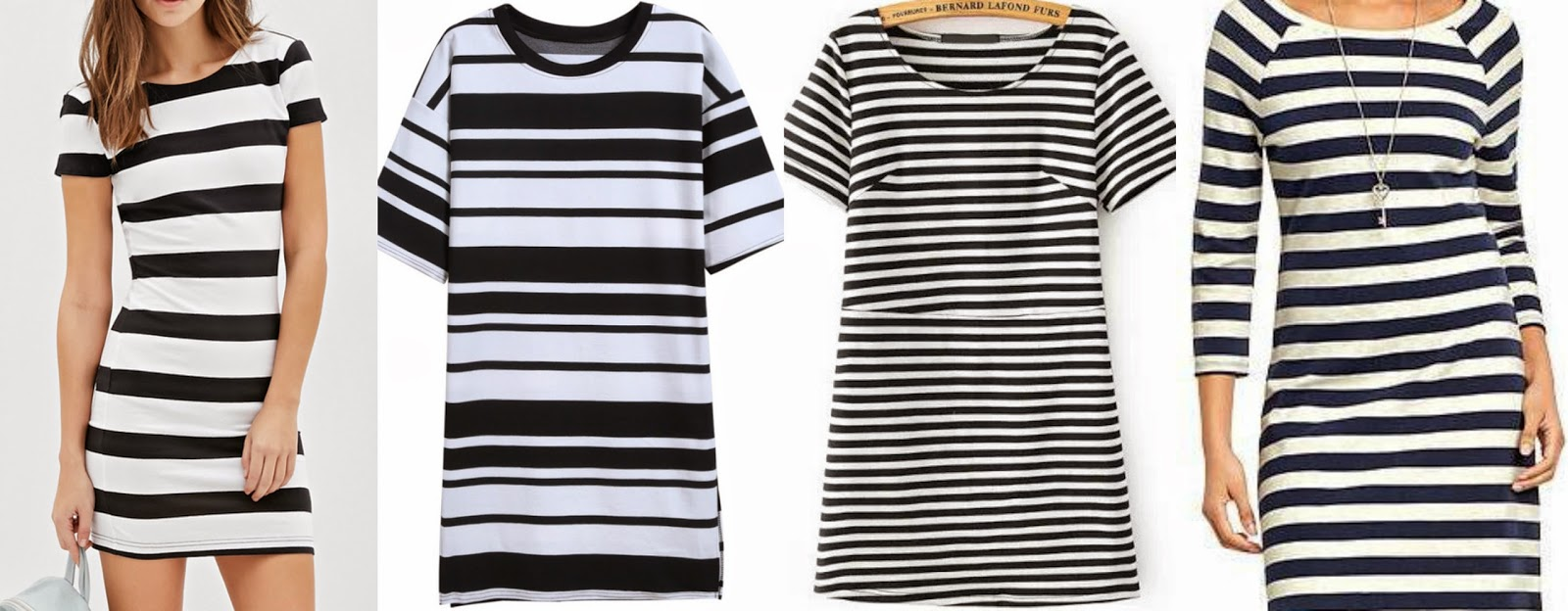black and white striped dress options