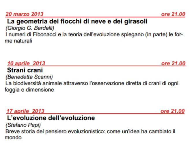 appuntamenti gratuiti con la scienza a Milano, auditorium di zona 3