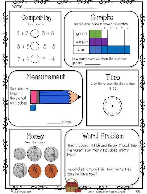 math worksheet : smiling and shining in second grade daily practice for second grade : Daily Math Practice Worksheets