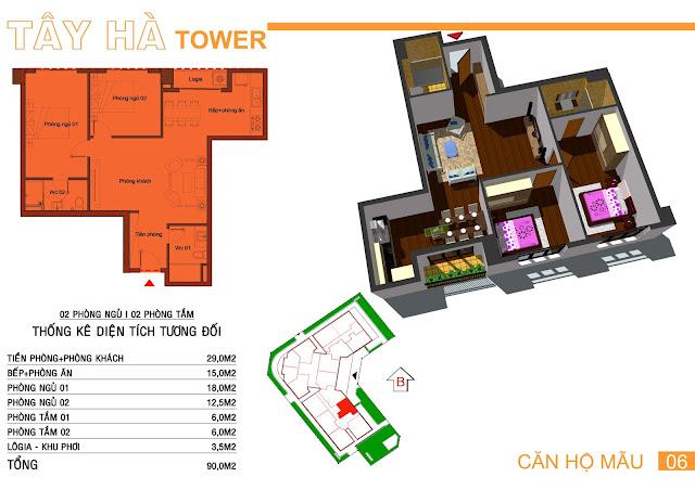 Căn số 5 chung cư Tây Hà Tower