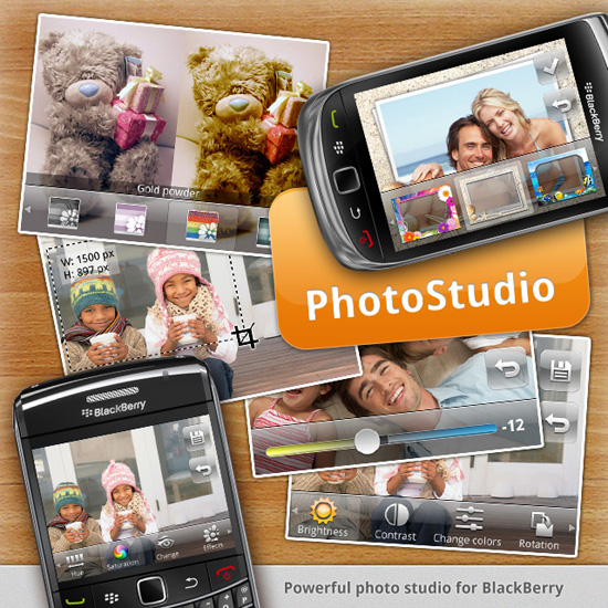 Tampilan Photo Studio blackberry