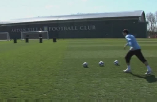 Stewart Downing shows off his pinpoint accuracy in a viral video