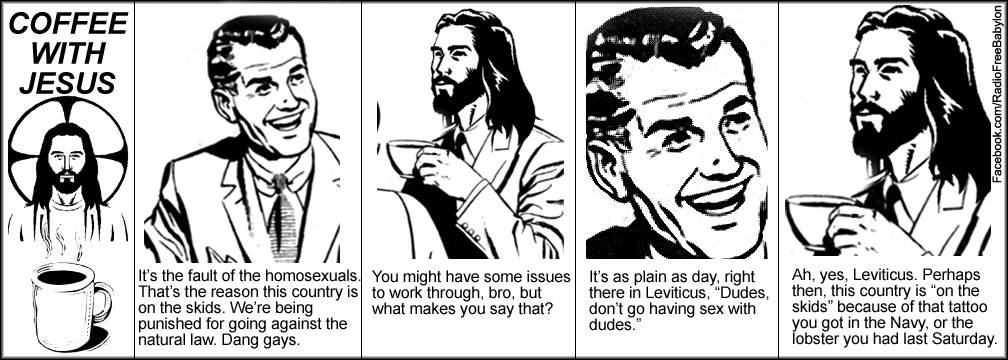 coffeewithjesus65 Labels: American christianity, bible, coffee with jesus, gay