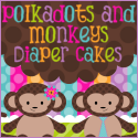 Polkadots and Monkeys Diaper Cakes