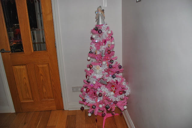 image of pink Christmas tree
